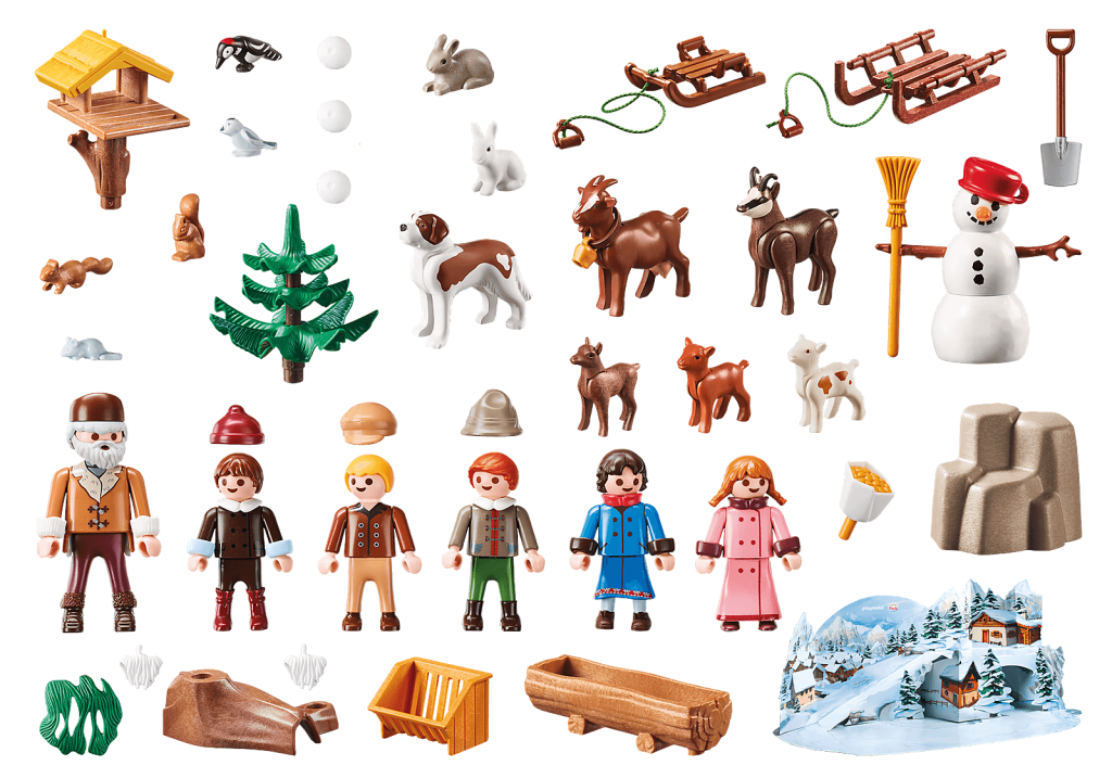 Playmobil 70261 - Heidi and Winter - Back