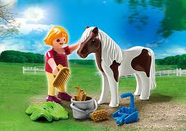 Playmobil - 70416 - Girl with pony