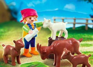 Playmobil - 70420 - Girl with goats