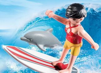 Playmobil - 70423 - Surfer with dolphin