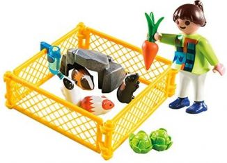 Playmobil - 70424 - Girl with guinea pigs