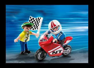 Playmobil - 70425 - Children with motorbike