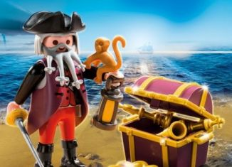 Playmobil - 70432 - Pirate with chest with treasure