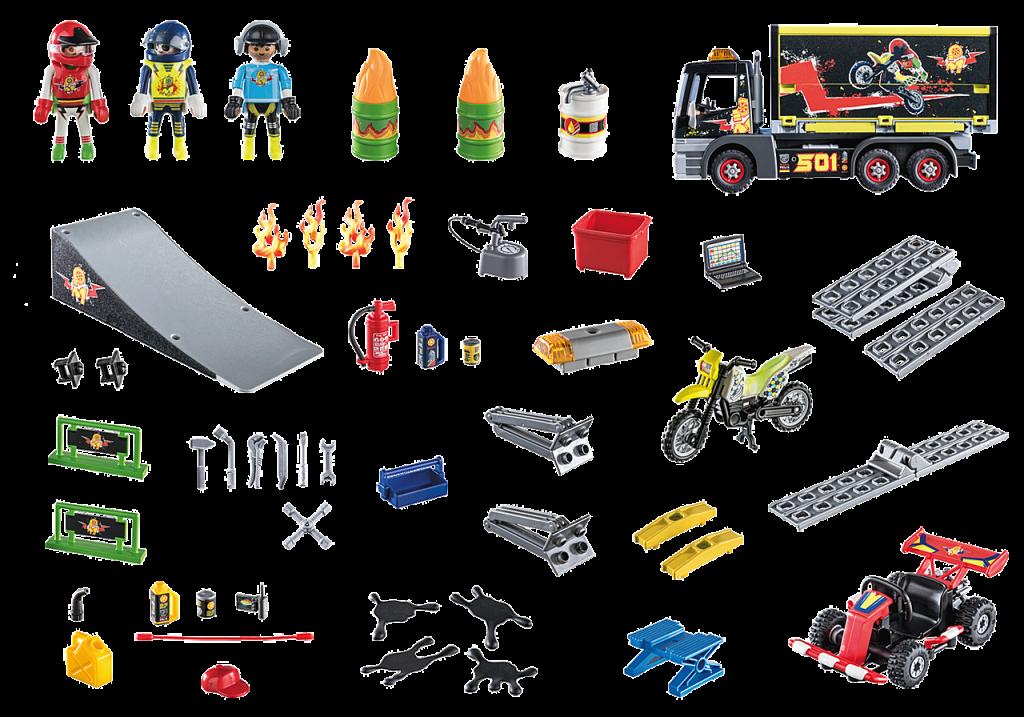 """Playmobil 70544 - """"Stuntmen"""" XXL Advent calendar - Back"""