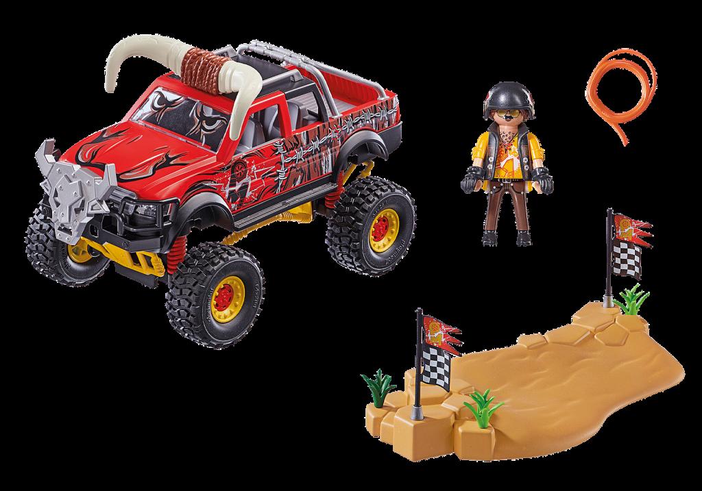 Playmobil 70549 - Stuntshow Monster Truck Horned - Back