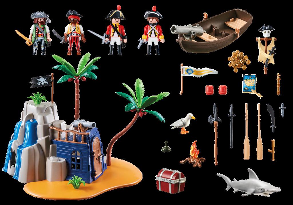 Playmobil 70556 - Pirate Treasure Island - Back