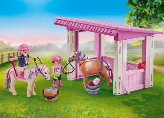 Playmobil - 9878 - Riders with poneys