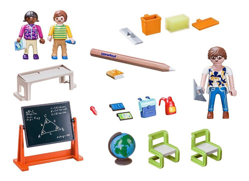 Playmobil 70314-usa -  school briefcase - Back