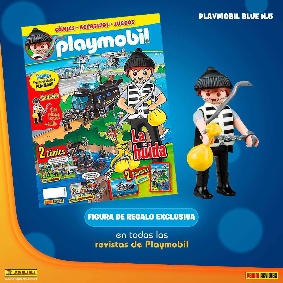 Playmobil PANNINI 05 AZUL - Thief - Box