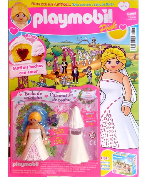 Playmobil PLAYMOBIL PANNINI 04 ROSA - bride with bouquet of roses - Box