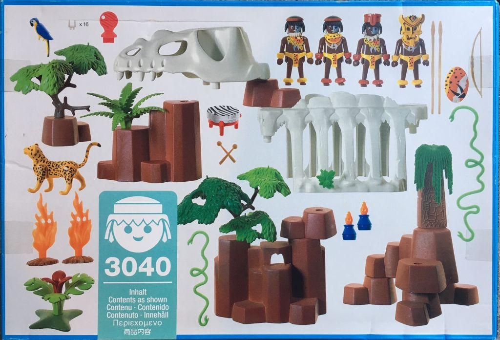 Playmobil 3040 - Dinosaur Dungeon - Back