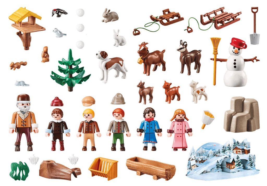 Playmobil 70260 - Advent Calendar - Heidi's Winter World - Back