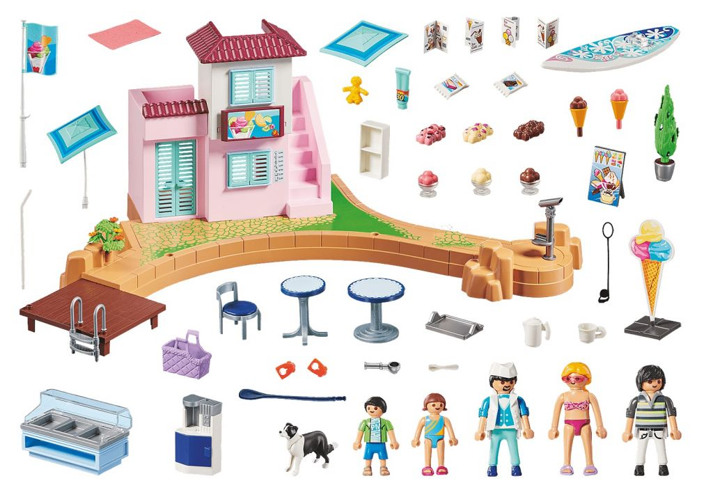 Playmobil 70279 - Ice cream Shop - Back