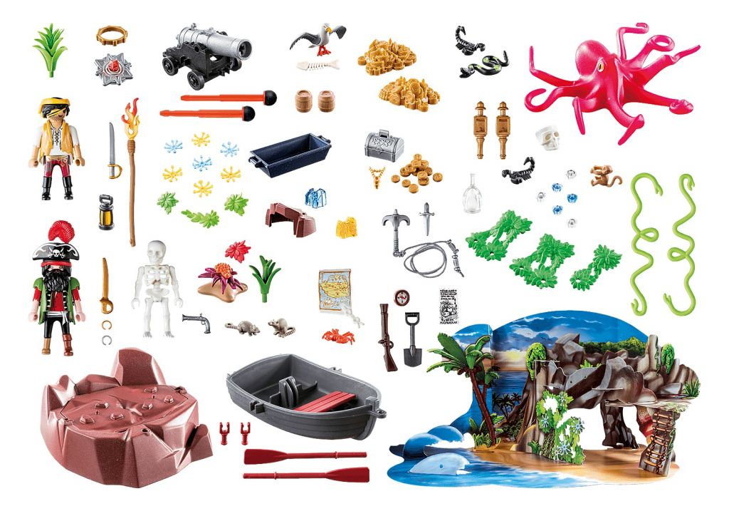Playmobil 70322 - Pirate Cove Treasure Hunt for the advent - Back