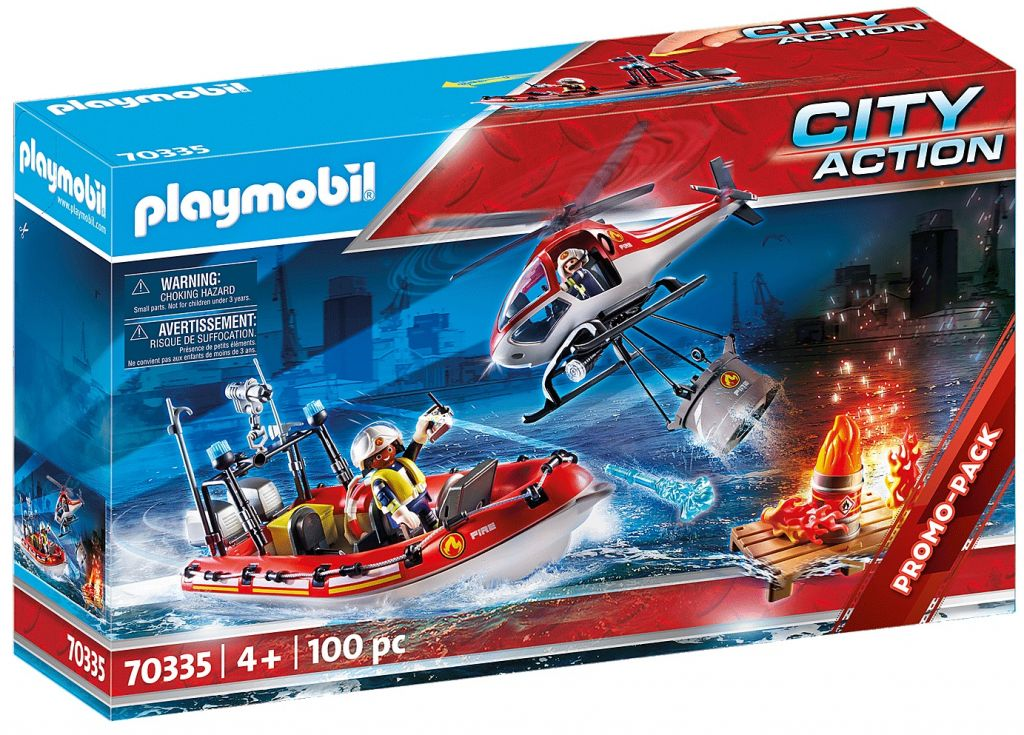 Playmobil 70335 - Fire rescue helicopter and boat - Box