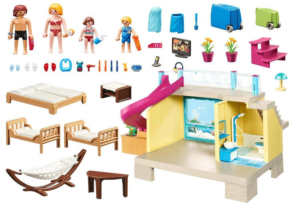 Playmobil 70435 - Bungalow with Pool - Back