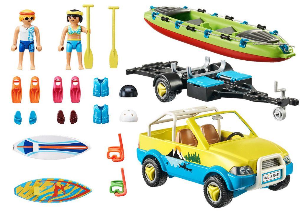 Playmobil 70436 - Beach Car with Canoe - Back