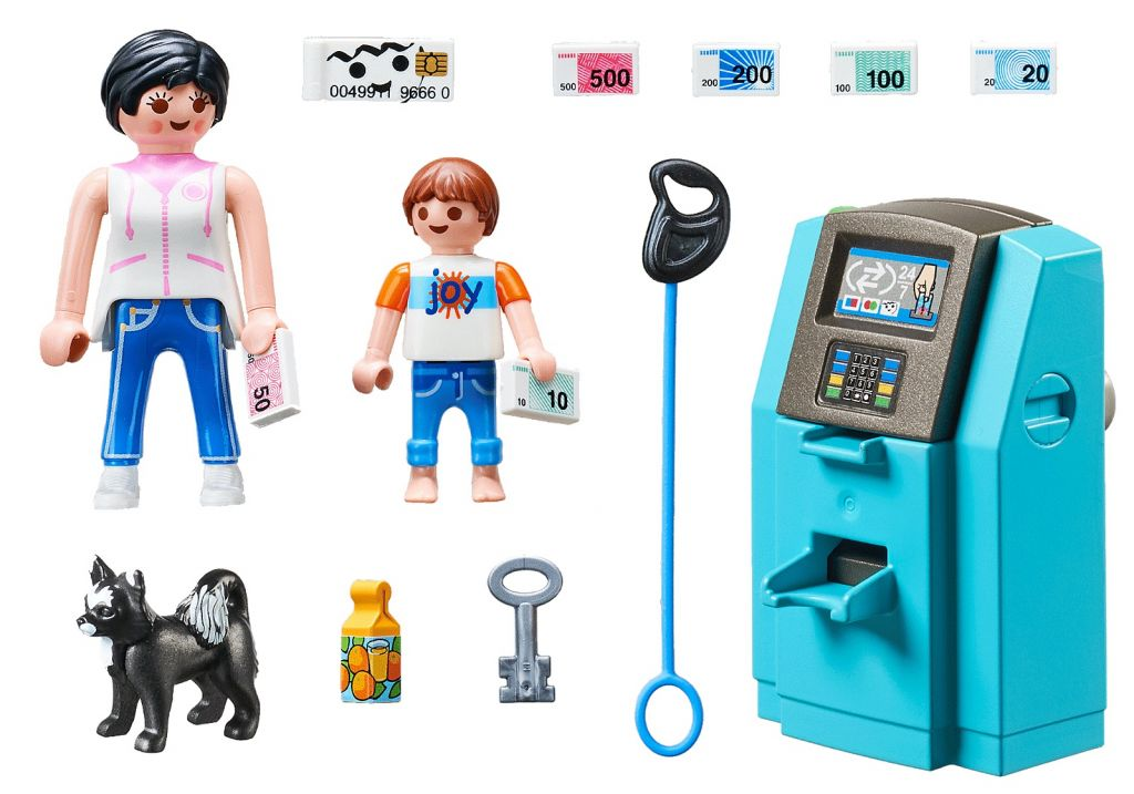 Playmobil 70439 - Tourists with ATM - Back