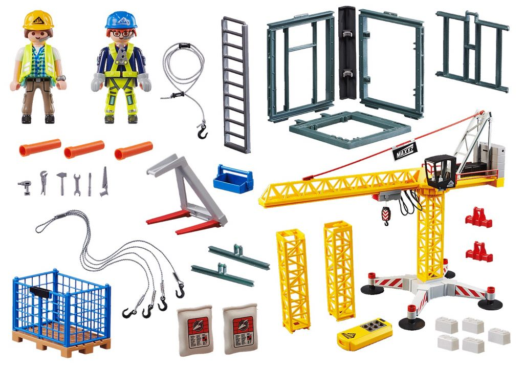 Playmobil 70441 - RC Crane with Building Section - Back