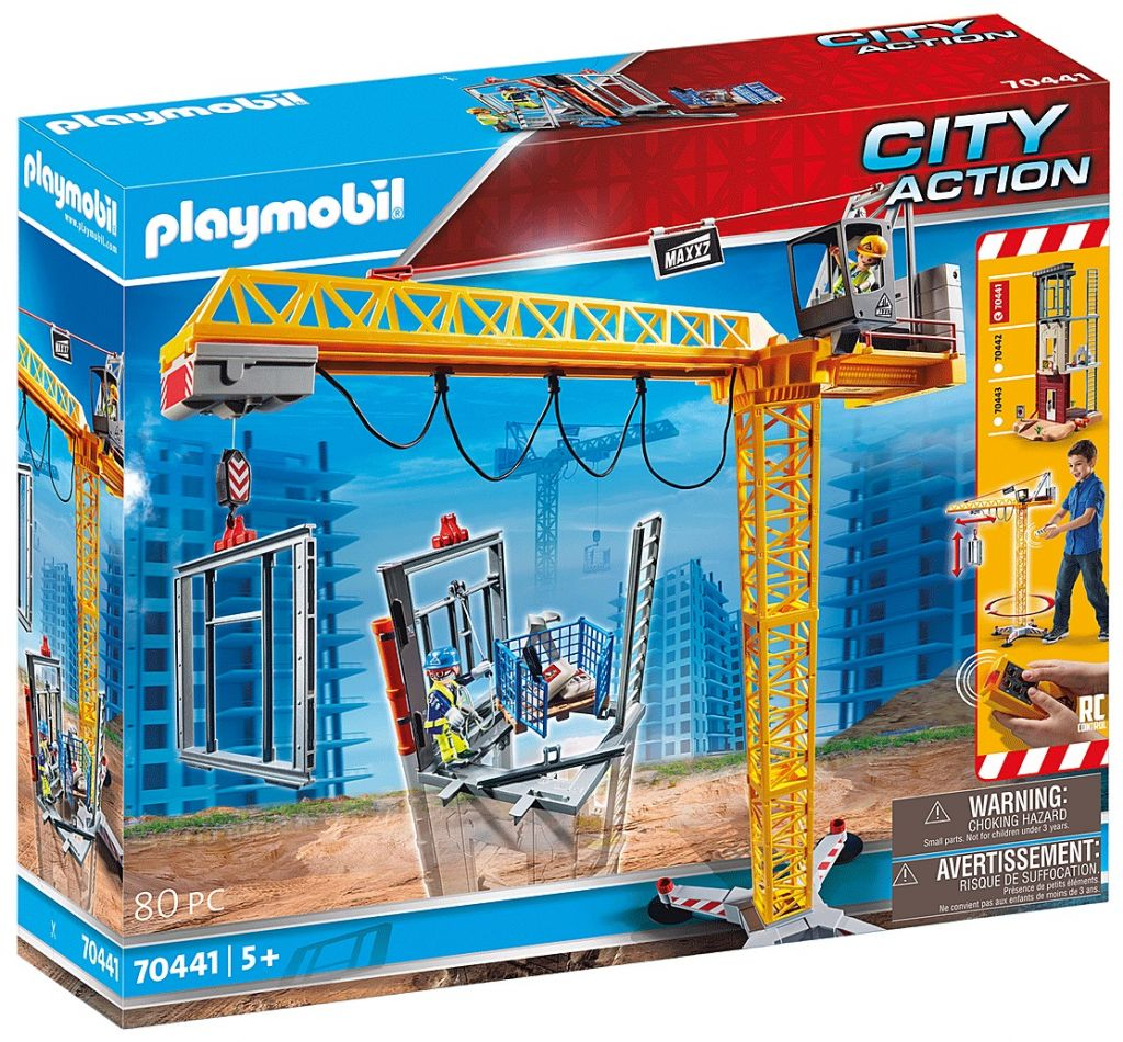 Playmobil 70441 - RC Crane with Building Section - Box