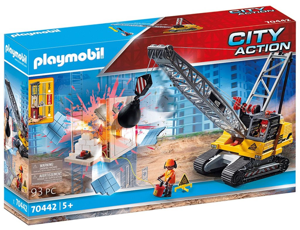 Playmobil 70442 - Cable Excavator with Building Section - Box