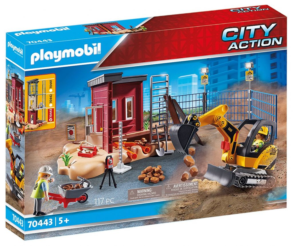 Playmobil 70443 - Mini Excavator with Building Section - Box