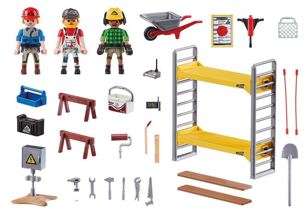 Playmobil 70446 - Scaffolding with Workers - Back