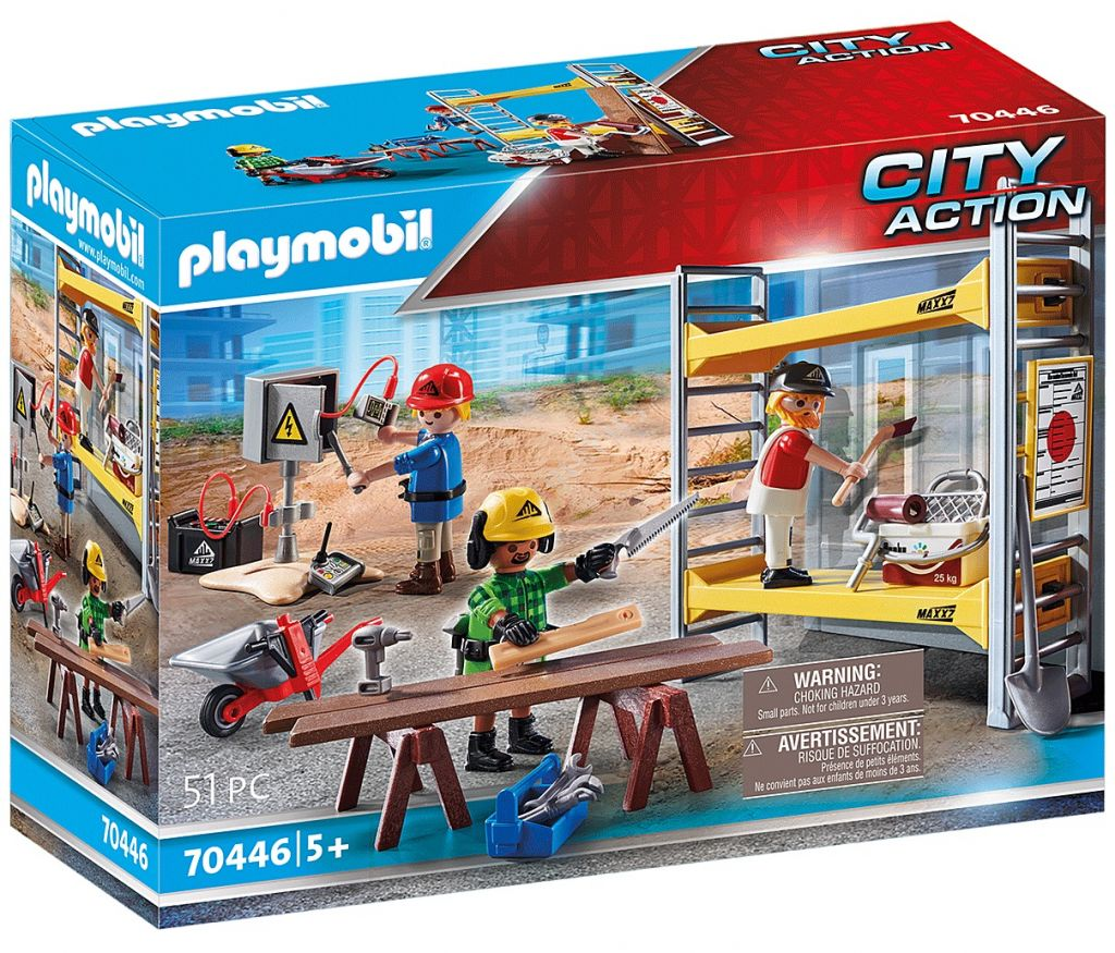 Playmobil 70446 - Scaffolding with Workers - Box