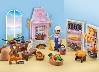 Playmobil - 9875-ger - castle kitchen