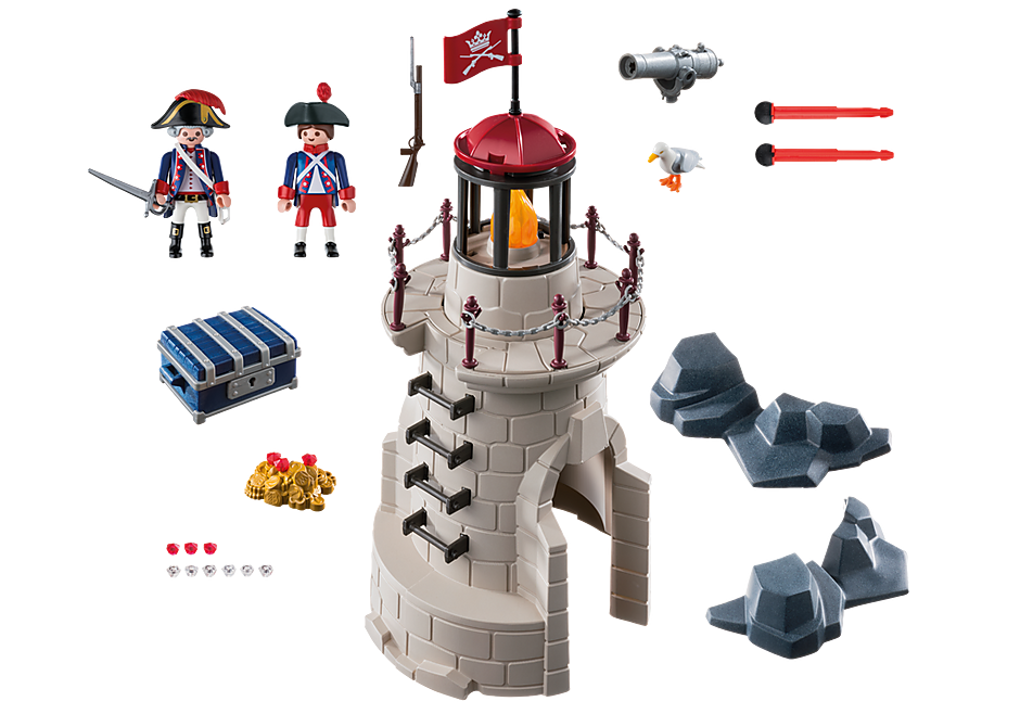 Playmobil 6680v2 - Soldiers light-tower - Back