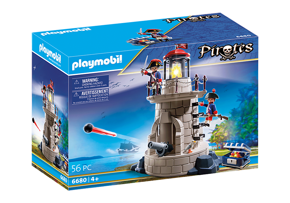 Playmobil 6680v2 - Soldiers light-tower - Box