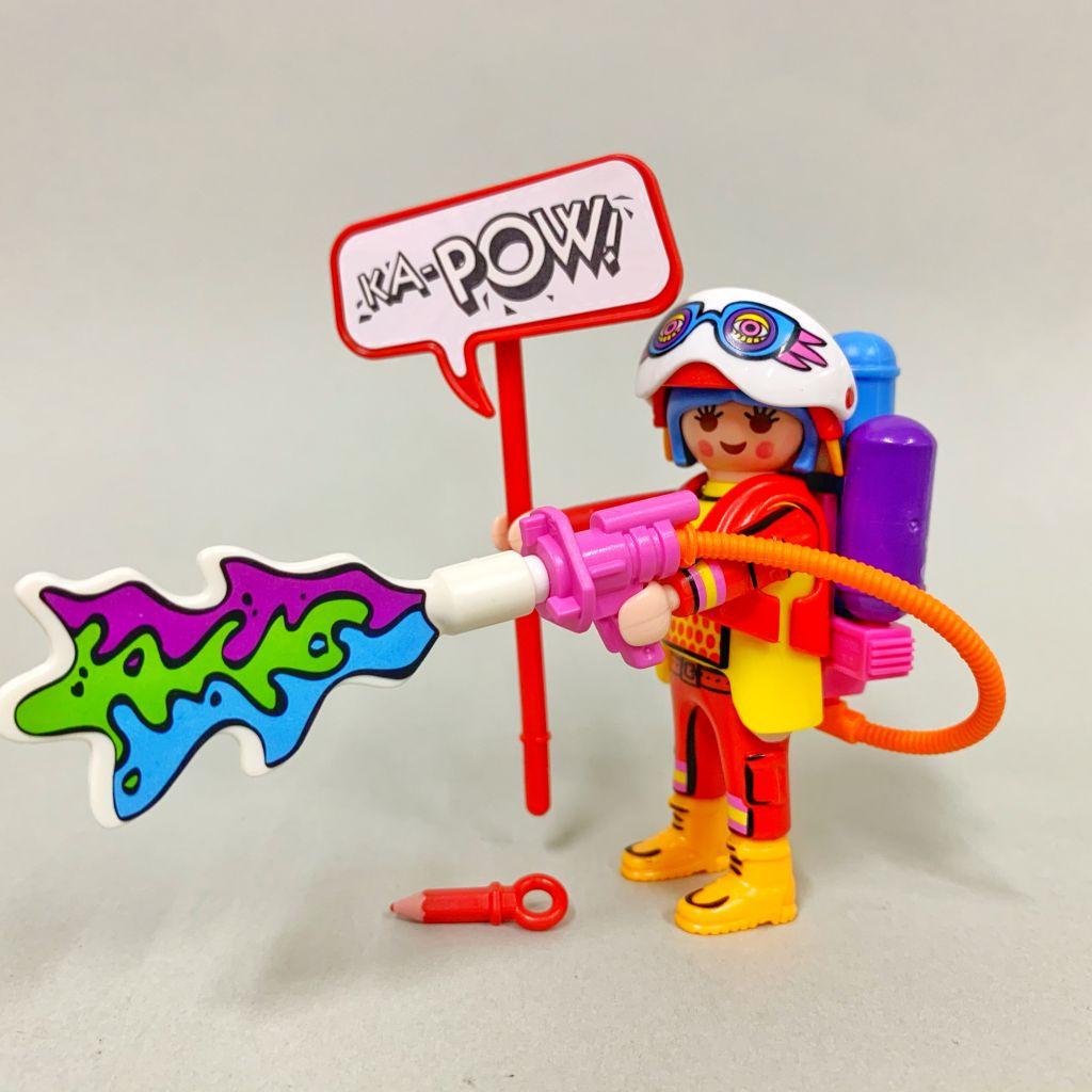 Playmobil 70478-08 - Colorfighter lady - Volver