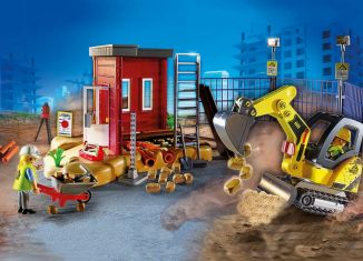 Playmobil - 70443 - Mini Excavator with Building Section
