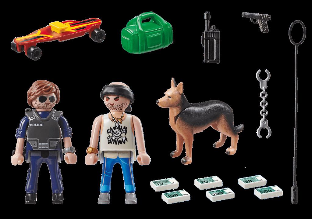 Playmobil 70461 - street patrol - Back