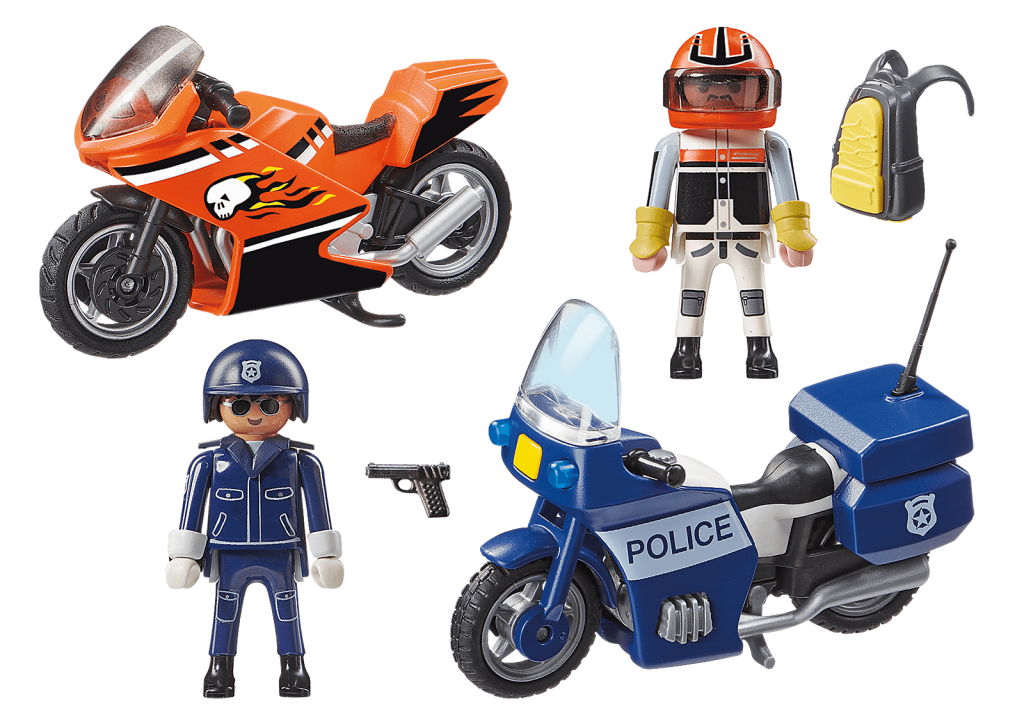 Playmobil 70462 - Motorcycle Chase - Back