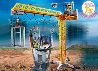 Playmobil - 70441 - RC Crane with Building Section