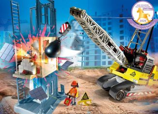 Playmobil - 70442 - Cable Excavator with Building Section