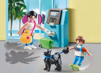 Playmobil - 70439 - Tourists with ATM