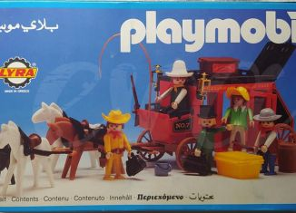 Playmobil - 3L53-lyr - Red stagecoach