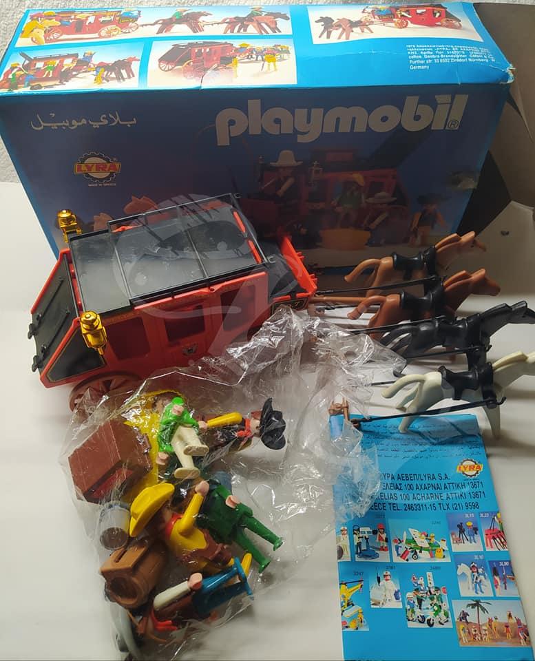 Playmobil 3L53-lyr - Red stagecoach - Back