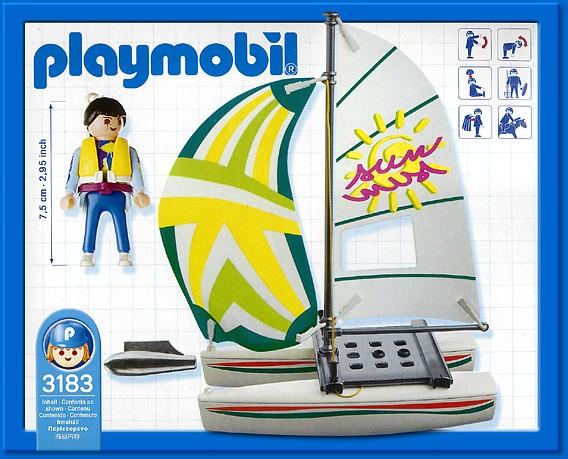 Playmobil 3183 - Catamaran - Back