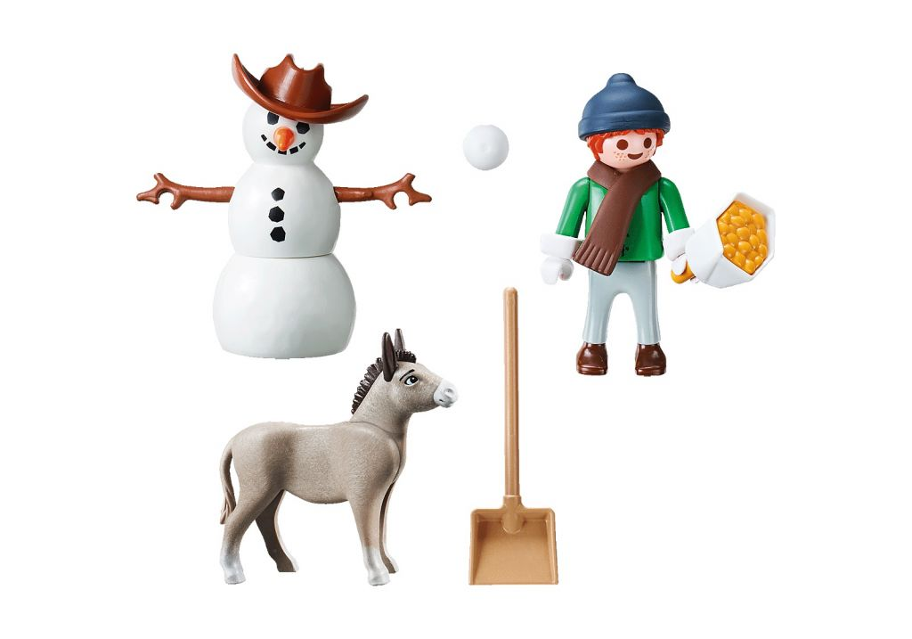 Playmobil 70398 - Snow time with Snips and Señor Carrots - Back