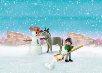 Playmobil - 70398 - Snow time with Snips and Señor Carrots