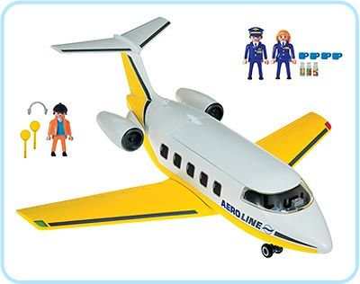 Playmobil 3185 - Jet - Back
