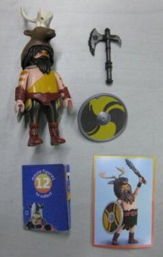 Playmobil 70069v1 - Yellow viking - Back