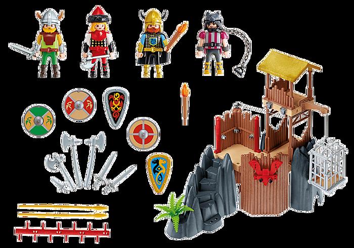Playmobil 4433v2 - Viking fortress - Back