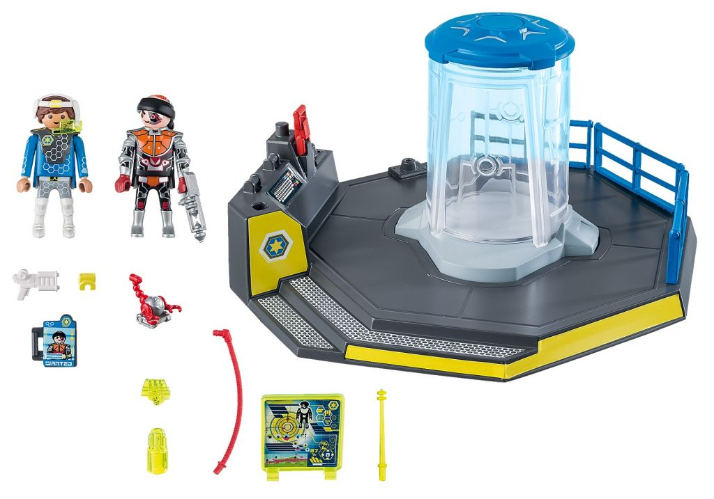 Playmobil 70009 - SuperSet Galaxy Police Prison - Back