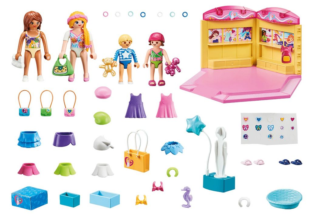 Playmobil 70592 - Fashion shop for children - Back