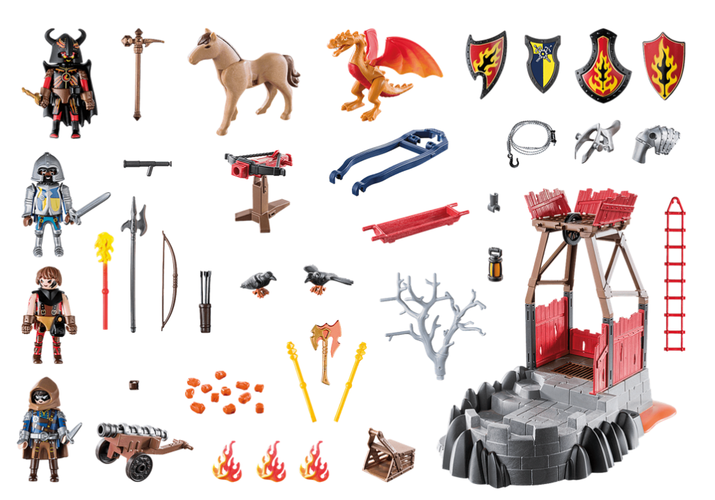 Playmobil 70390 - Burnham Raiders Lava Mine - Back