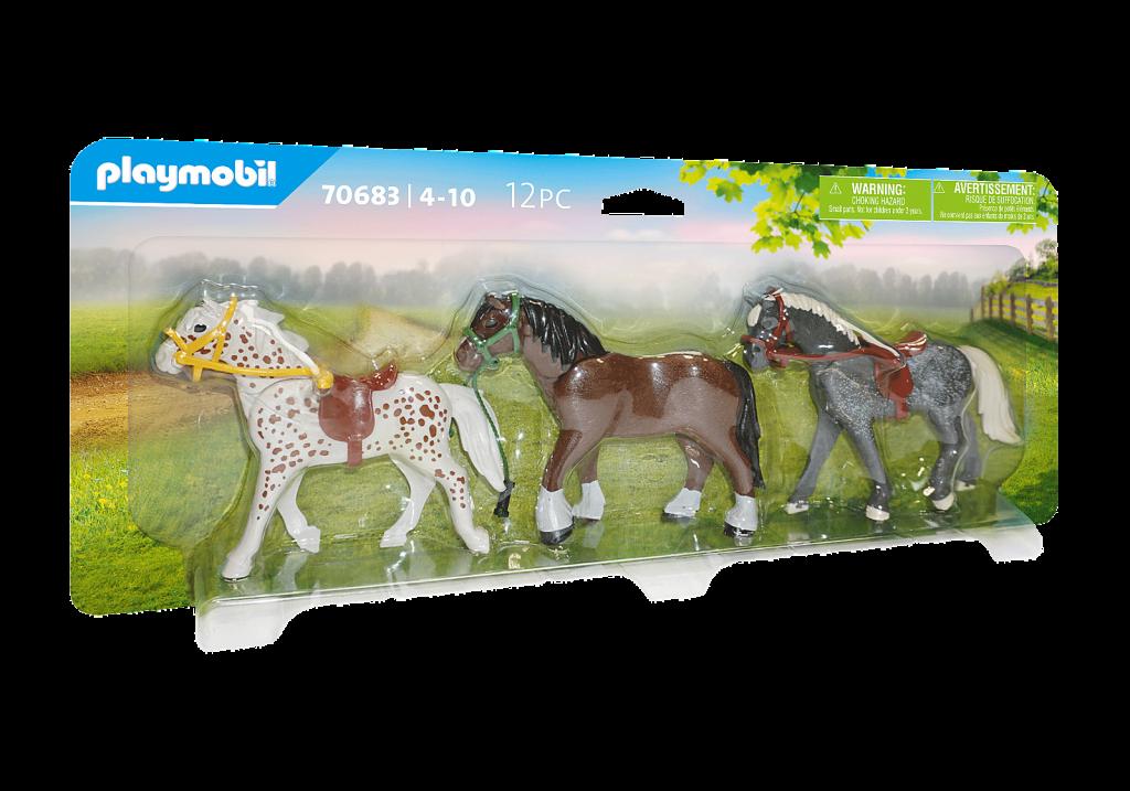 Playmobil 70683 - 3 Horses - Box